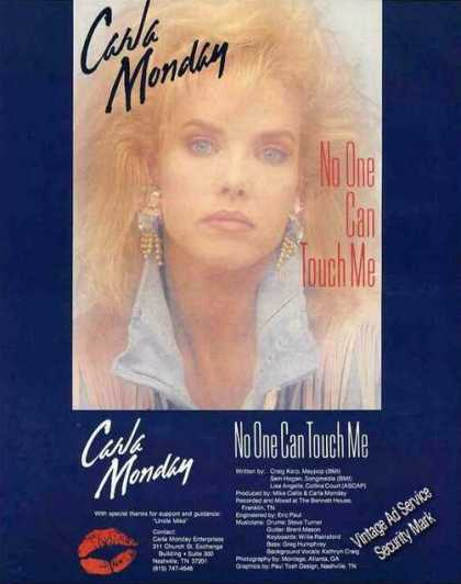 "Carla Monday Photo ""No One Can Touch Me"" (1987)"