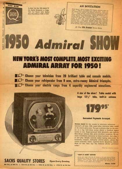 Admiral Corporation's various – 1950 Admiral SHOW (1950)