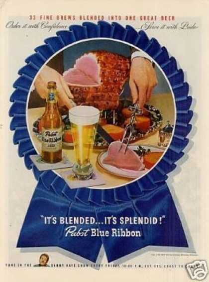 Pabst Blue Ribbon Beer (1946)