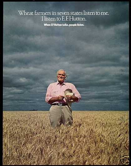 EF E.F. Hutton Wheat Farmers Listen (1982)