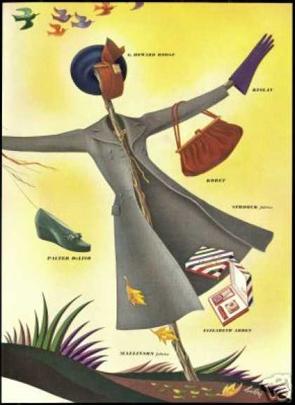 Great Bobri Woman Fashion Shoe Purse Glove Art (1940)