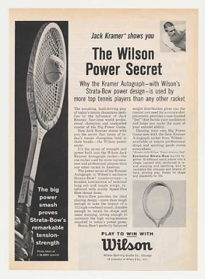 Jack Kramer Wilson Tennis Racket Photo (1963)