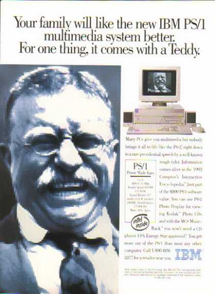 IBM Computer – Teddy Roosevelt and the IBM PS/1 (1993)