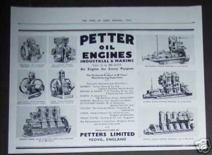 Petters Industrial & Marine Engines (1936)