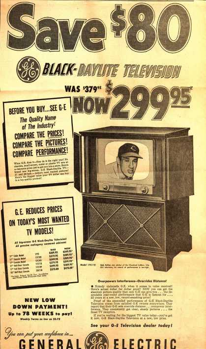 General Electric Company's Television – Save $80 (1951)