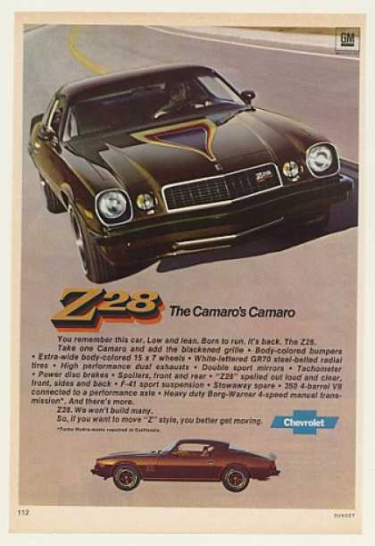 Chevrolet Chevy Camaro Z28 Photo (1977)