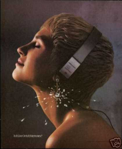 Memorex Headphones Pretty Woman Diamond Photo (1990)