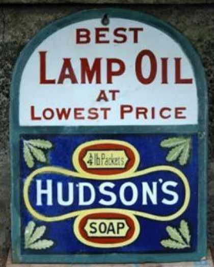 Hudson's Lamp Oil Sign