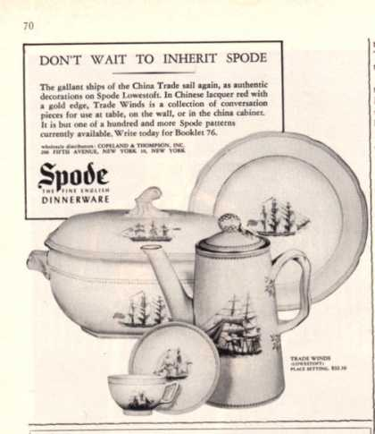 Spode Fine English Dinner Ware China (1962)