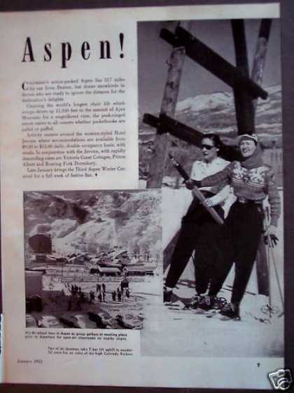 Aspen Colorado Ski Winter Vacation Travel (1953)