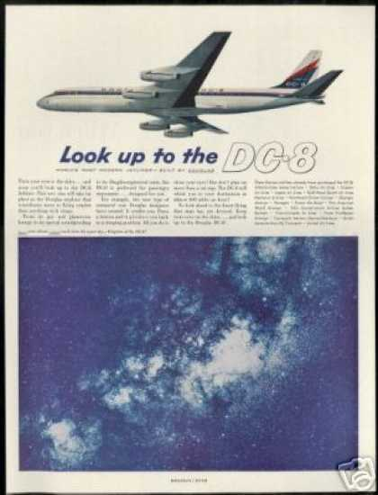 Douglas DC-8 DC8 Jetliner Airplane Stars Photo (1959)