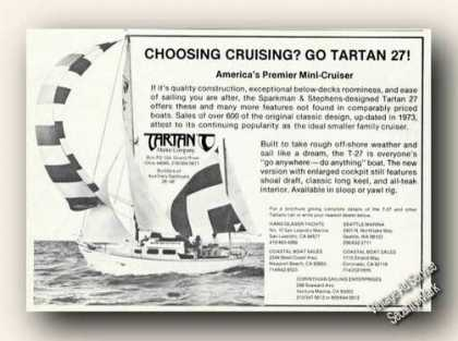 Tartan T-27 Mini-cruiser Photo Vintge Boats (1976)