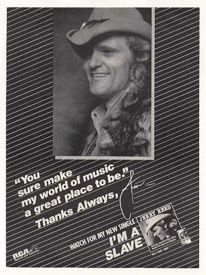 Jerry Reed I'm A Slave RCA Records Photo (1983)