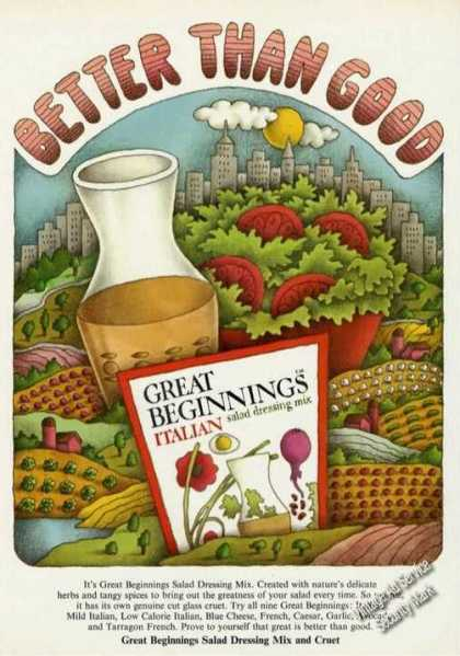 Great Beginnings Italian Salad Dressing Color (1974)
