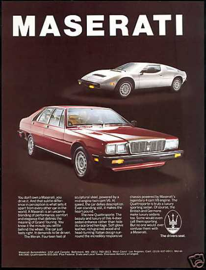 Maserati Merak & 4dr Quattroporte Car Photo (1981)