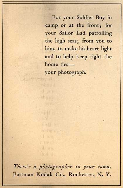 Kodak – For your Soldier Boy in camp or at the front... (1917)