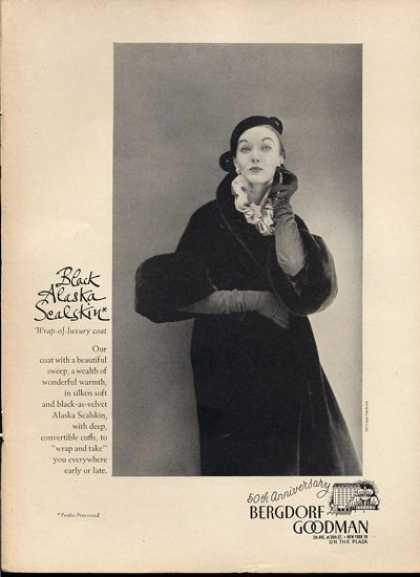 Bergdorf Goodman Alaska Sealskin Coat (1951)