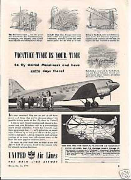 United Airline the Maine Line Airway (1940)