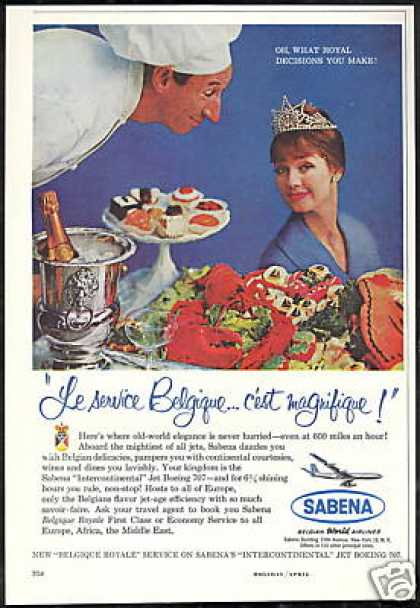 Sabena Belgian World Airlines Photo Vintage (1960)