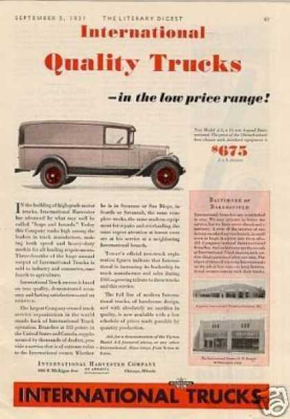 International Truck Ad Model A-2 (1931)
