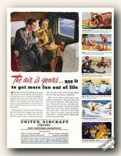 United Aircraft East Hartford Ct Air Travel (1949)