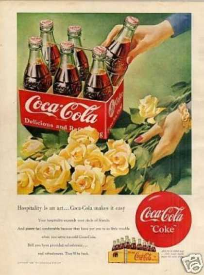 "Coca-cola Ad ""Hospitality Is an Art... (1950)"