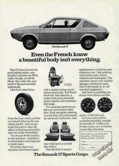 Renault 17 Even the French Know Beautiful Body (1973)