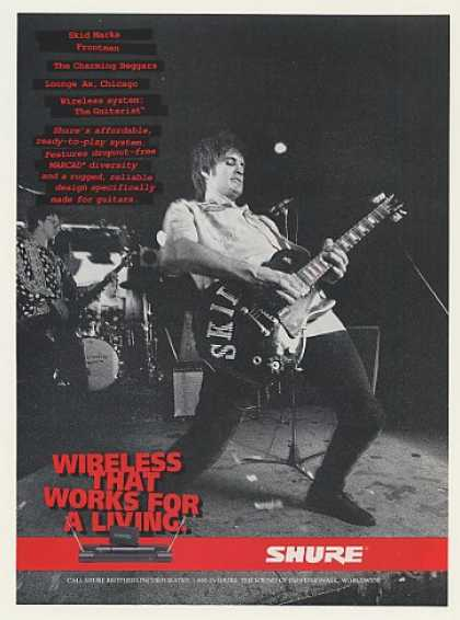 Skid Marks Shure Guitarist Wireless Sys Photo (1996)