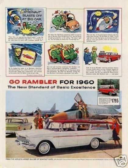 "Rambler Custom Cross Country Wagon Ad ""Astronaut.. (1960)"