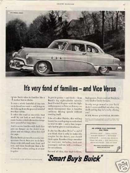 "Buick Car Ad ""It's Very Fond Of... (1952)"