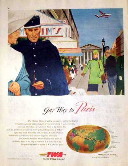 TWA Airlines – Gay Way To Paris – Sold (1947)
