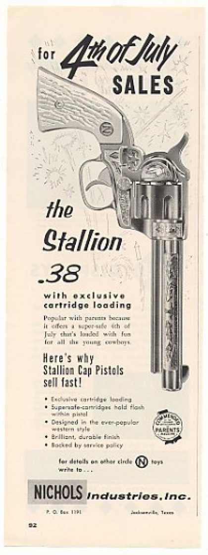 Nichols Stallion .38 Cap Pistol (1955)