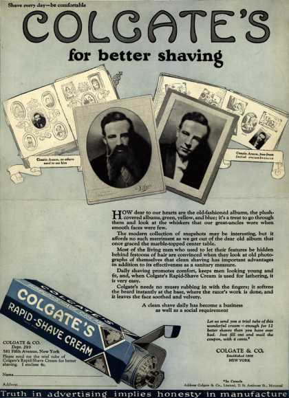 Colgate & Company's Colgate's Rapid-Shave Cream – Colgate's for better shaving (1925)