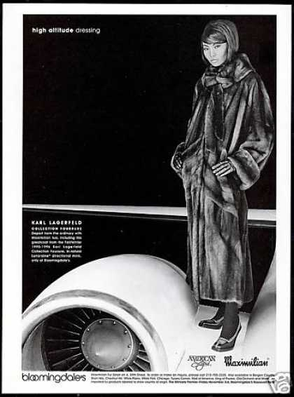 Maximilian Lagerfeld Mink Fur Coat Photo Plane (1995)