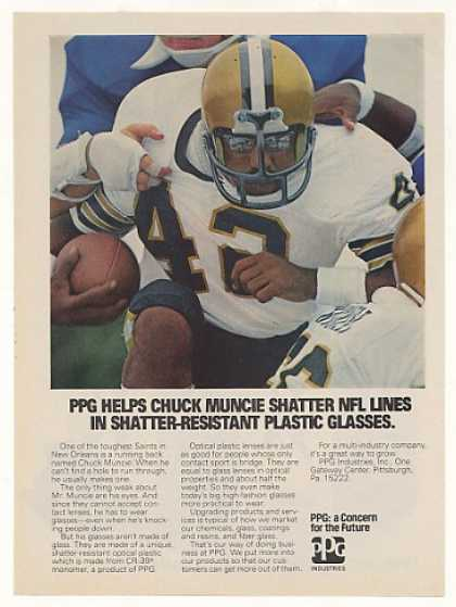 New Orleans Saints Chuck Muncie PPG Photo (1977)