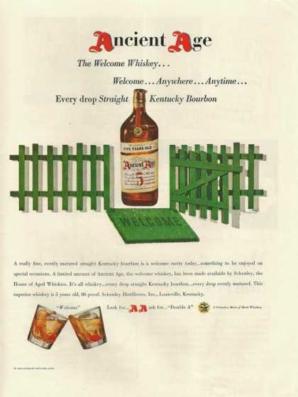 The Welcome Whiskey Ancient Age (1948)