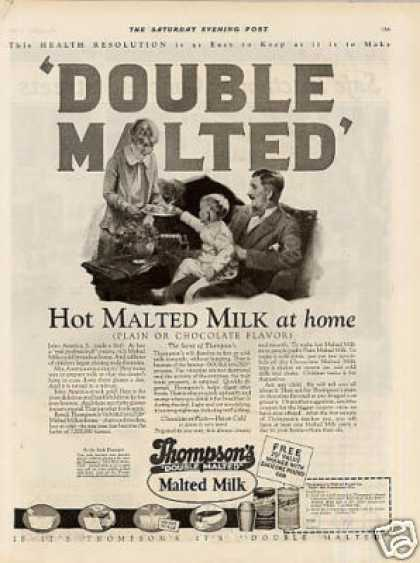 Thompson's Malted Milk (1927)