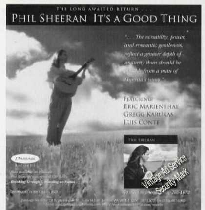 Paul Sheeran Photo Vintge Music Promo (1996)