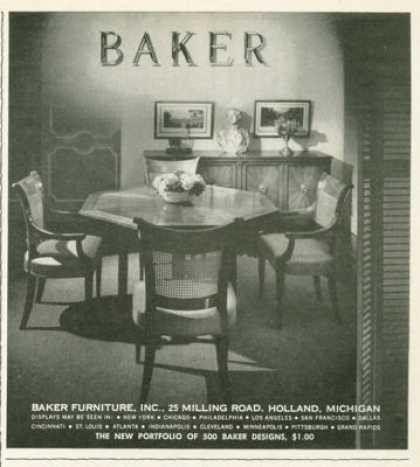 Baker Furniture Table Chairs (1961)