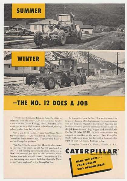 Caterpillar No 12 Motor Grader Kellogg ID Photo (1955)