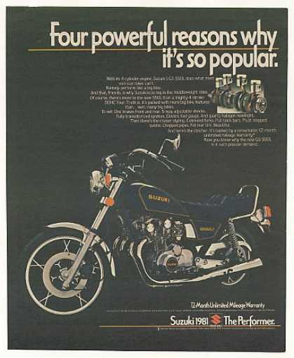 Suzuki GS-550L Motorcycle Photo Vintage (1981)