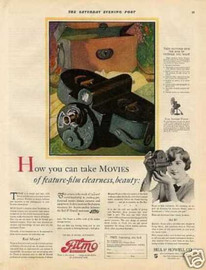 Bell & Howell Filmo Movie Camera Color (1926)