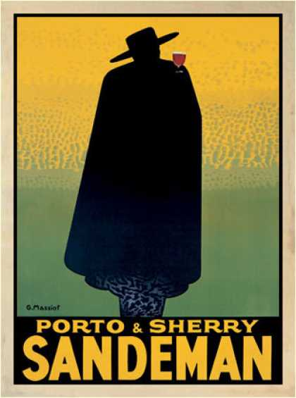 Porto &amp; Sherry Sandeman by Georges Massiot (1931)