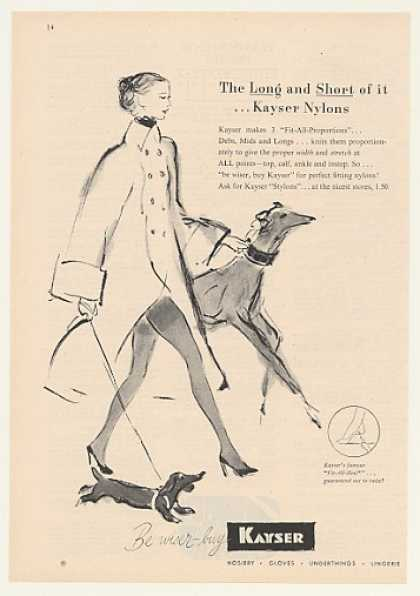 Kayser Nylons Lady Dogs art (1947)