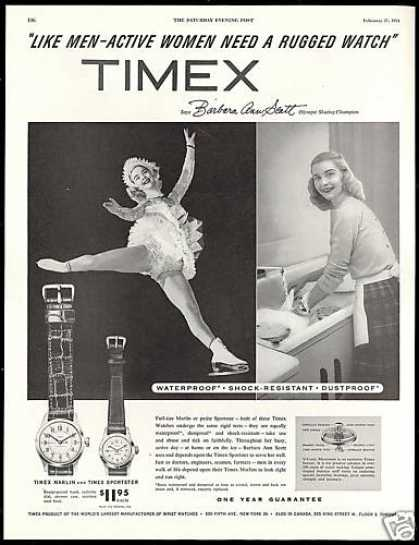 Olympic Skater Barbara Ann Scott Timex Watch (1954)
