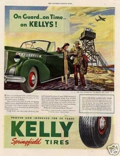 "Kelly Springfield Tires Ad ""On Guard... (1943)"