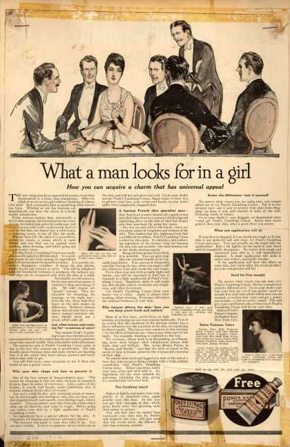 Pond's Extract Co.'s Pond's Vanishing Cream – What a Man Looks for in a Girl (1916)