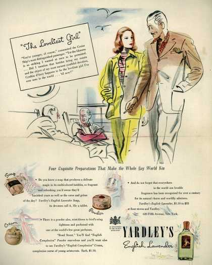 "Yardley of London's Yardley's English Lavender – ""The Loveliest Girl"" (1940)"
