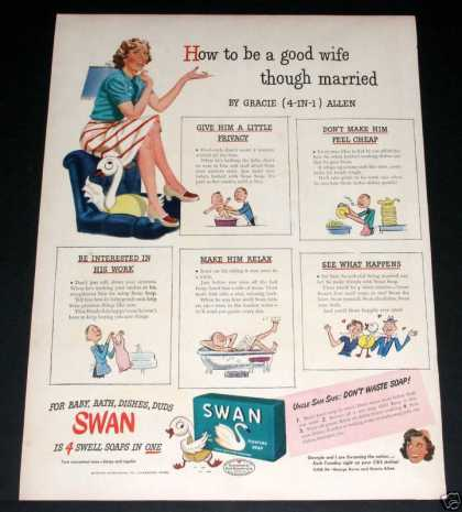 Old , Swan Soap, Gracie Allen (1944)