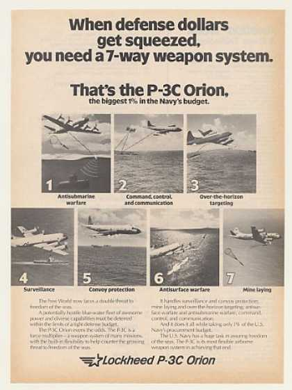 Lockheed P-3C Orion Aircraft 7-Way Weapon Sys (1983)